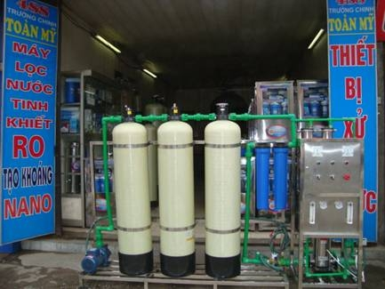 Dàn lọc nước tinh khiết công suất 500lit/H, 750lit/H, 1000lit/H, 2000/H, 3200lit/H